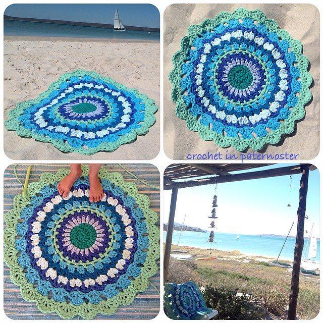 crochetinpaternoster doily rug