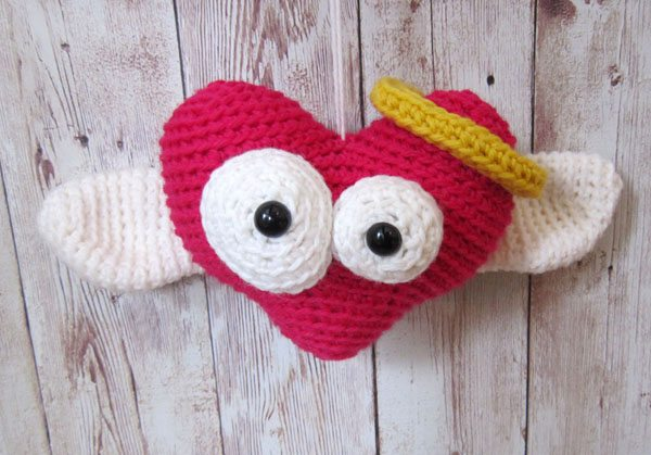 cupid heart amigurumi pattern