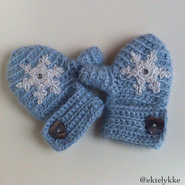 ektelykke crochet winter gloves