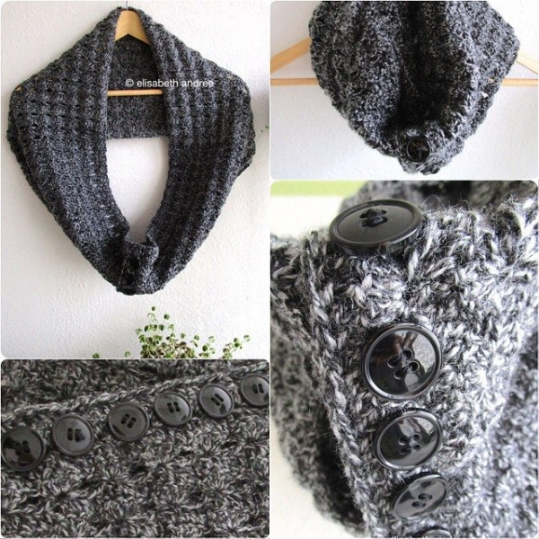 elisabethandree crochet cowl