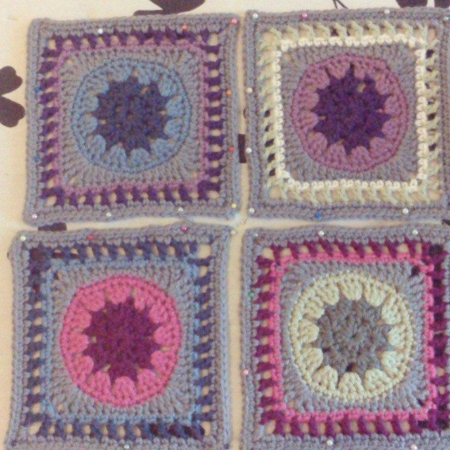 forestflowerdesigns crochet square a day