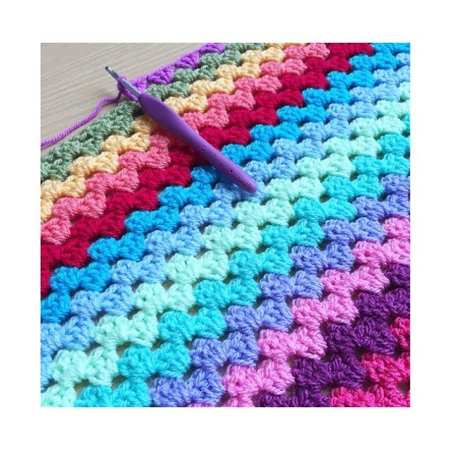 forever_autumn crochet blanket