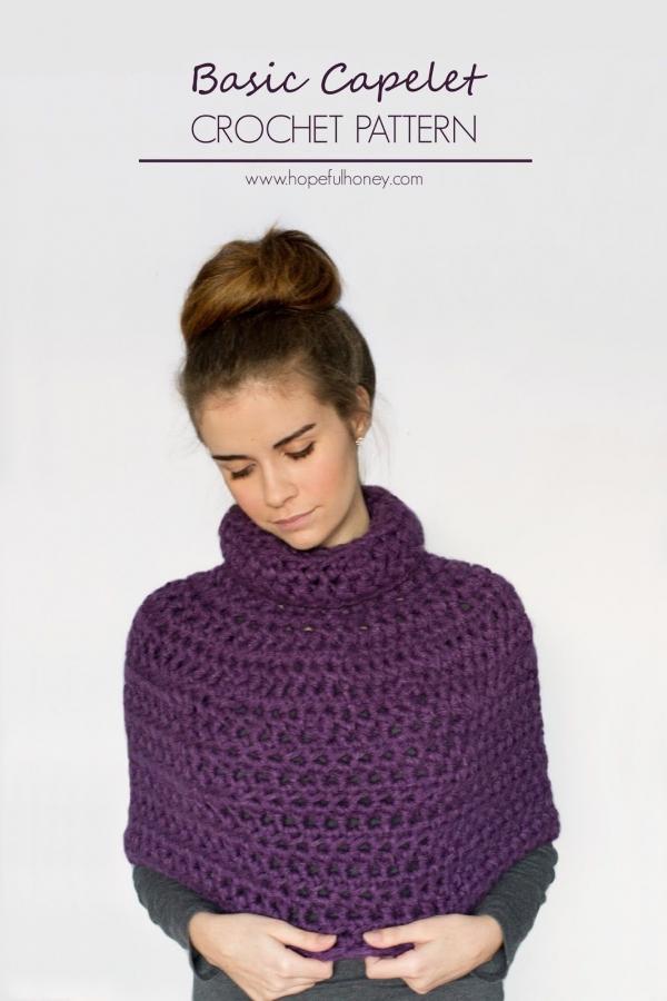 free crochet capelet pattern