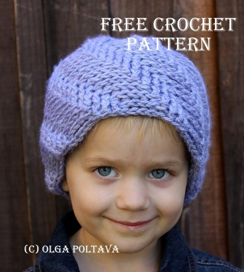 child's crochet hat free pattern