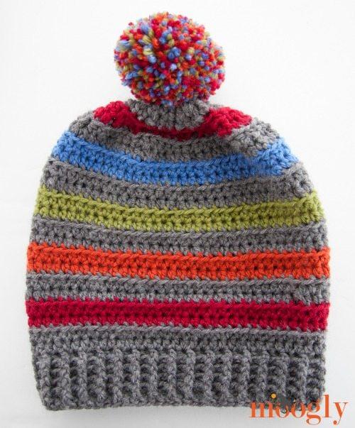free crochet pom hat pattern