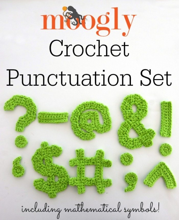 free crochet punctuation patterns