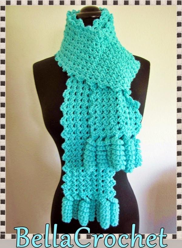gratis Gehaakte sjaal patroon
