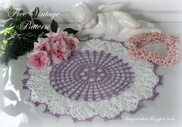 free vintage crochet doily pattern