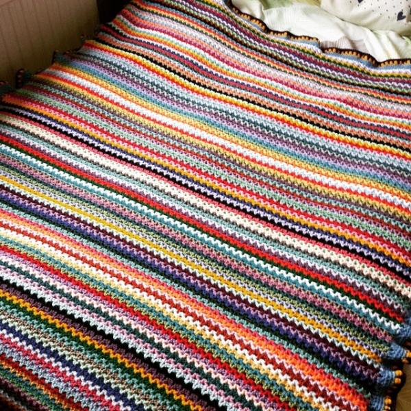 hookystar crochet vstitch blanket