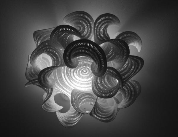 hyperbolic crochet art lampshade