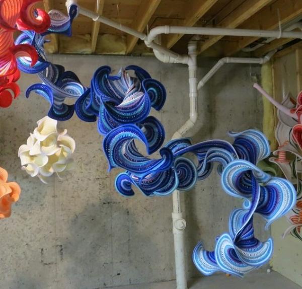 hyperbolic crochet dragon