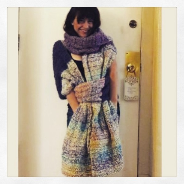 instagram crochet oversized scarf