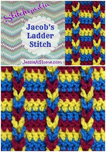 Jacob?s Ladder Crochet Stitch Tutorial from @jessie_athome ; visit ...