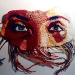 katika crochet art face