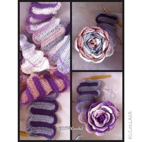 kmdcrochet switchback scarf crochet