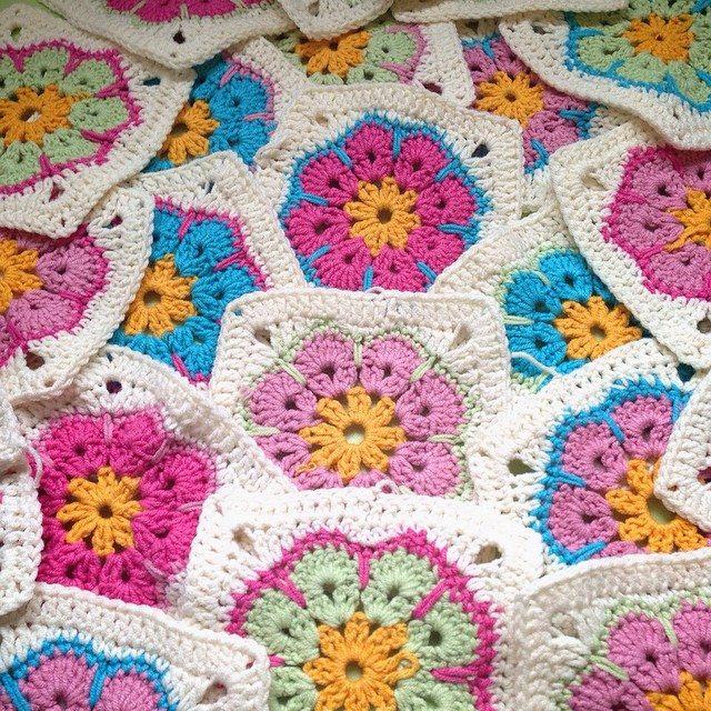 Crochet Square Patterns For Beginners : la_slava crochet squares