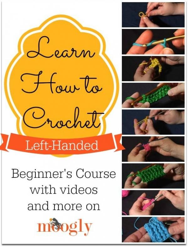 left handed crochet tutorials