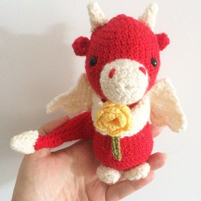 littlecosythings crochet dragon