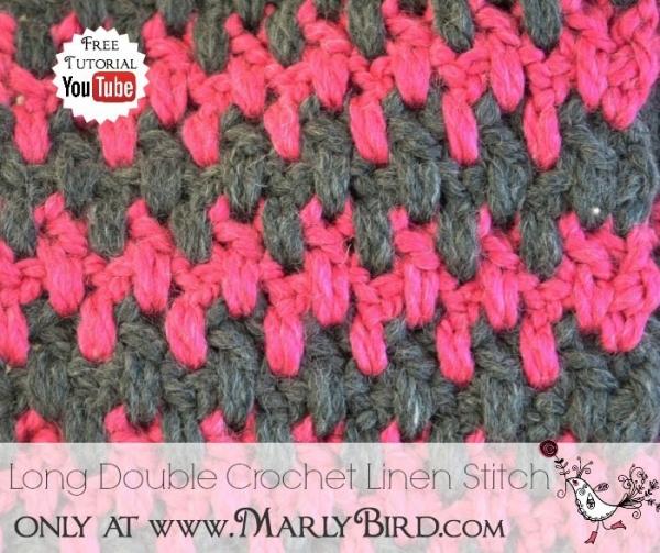 long double crochet linen stitch pattern