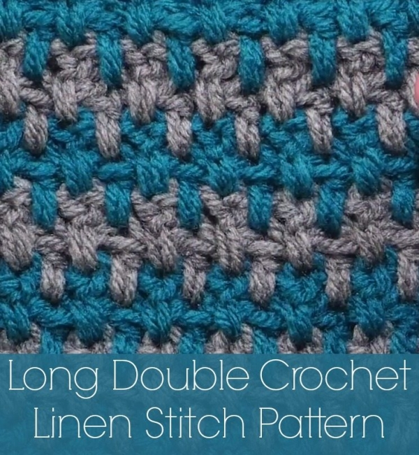 long double crochet linen stitch tutorial