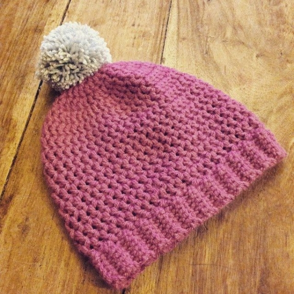 lou.teacrochet crochet hat pom