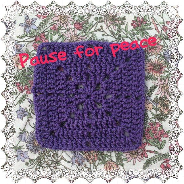 lovetoloop crochet de-stress square