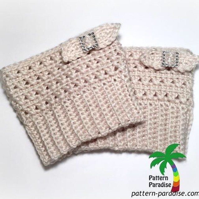 patternparadise crochet boot cuffs