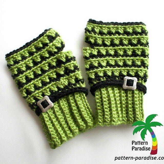patternparadise crochet fingerless gloves free pattern