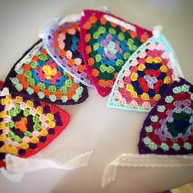 pauline.c.morgan crochet  granny triangles