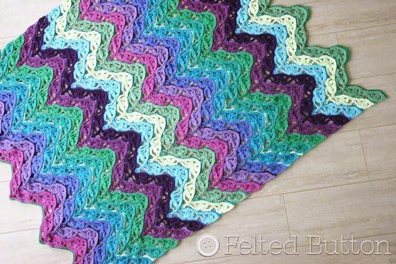 rimpel gehaakte deken patroon