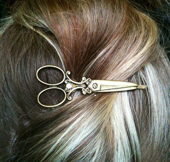 scissors bobby pin