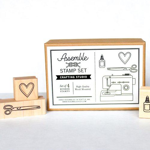 scissors stamp set
