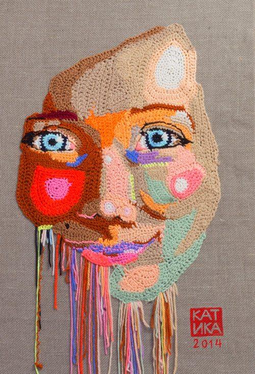 self portrait crochet art katika 2