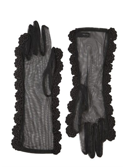 simone rocha designer crochet gloves