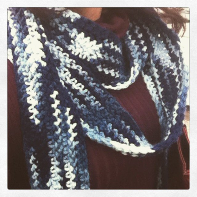 skinny crochet scarf