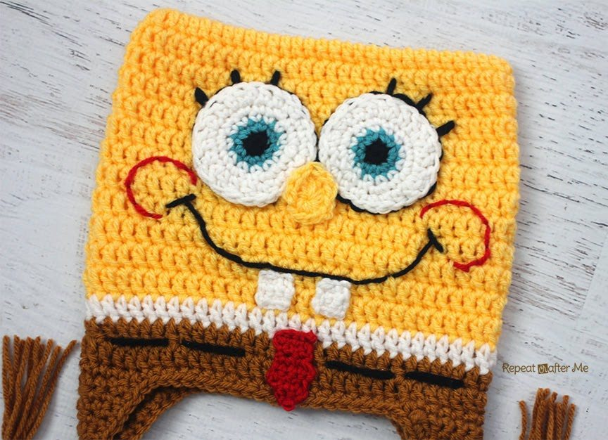 Free Crochet Pattern Spongebob Hat : schemi cappello uncinetto di SpongeBob