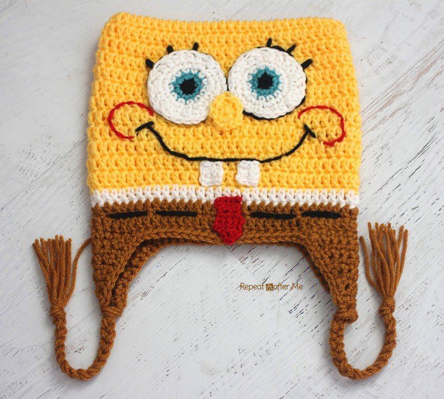 Free Crochet Pattern Square Hat : spongebob square pants crochet hat