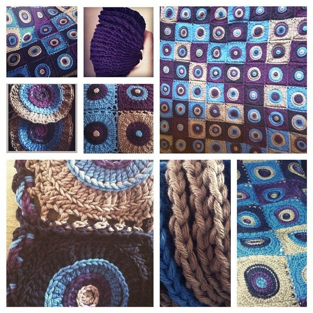 stephaniedavies crochet blanket collage