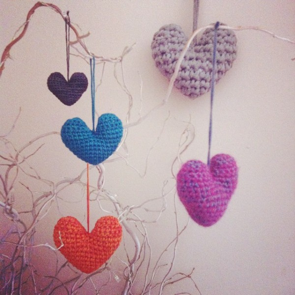stephaniedavies crochet hearts
