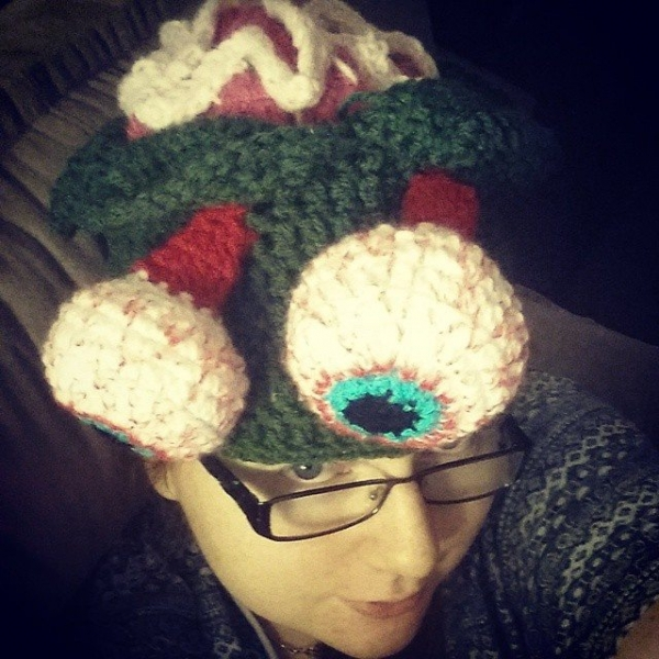 thecosmiccrafter_ crochet zombie hat