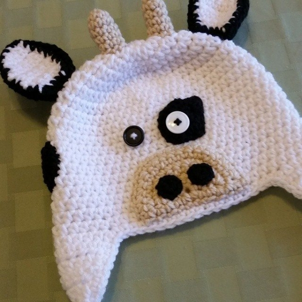 thegirllovesyarn crochet cow hat