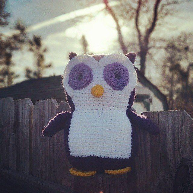 thegirllovesyarn crochet owl