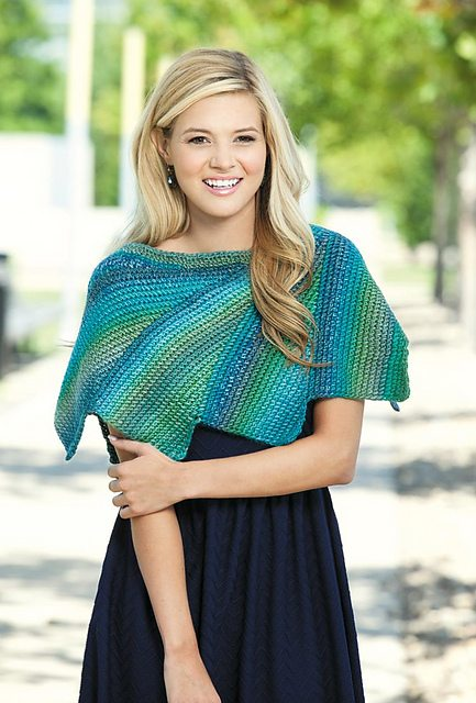tunisian crochet shawl