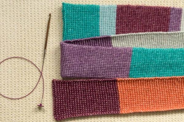 tunisian crochet skinny scarf free pattern 2