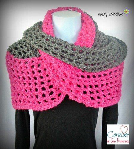wrap cowl free crochet pattern
