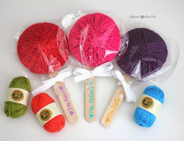 yarn lollipops tutorial