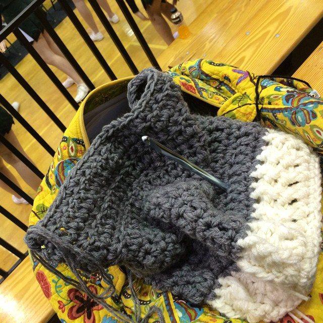 yarnhook crochet bear cowl WIP