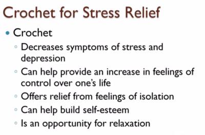 stress relief crochet