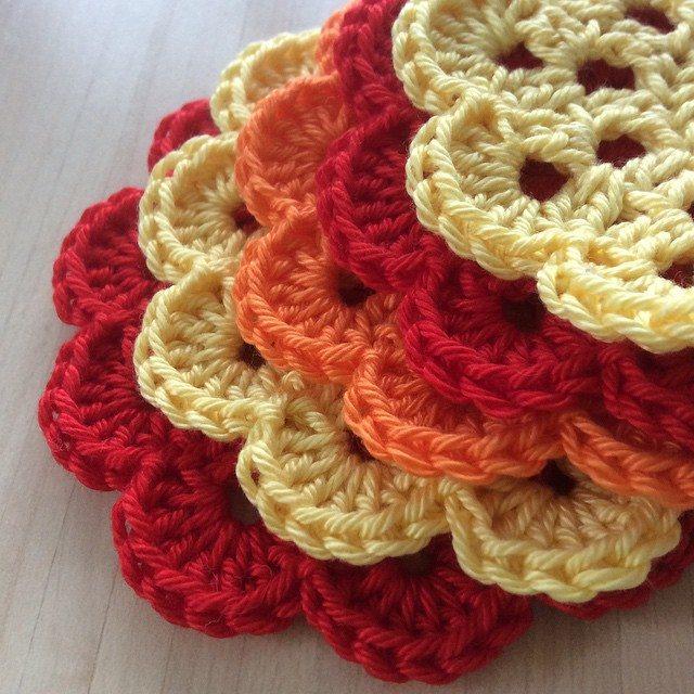 aglaelaser crochet flowers 3