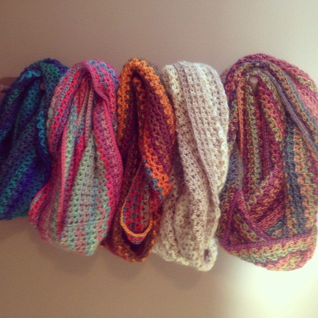 carefulcatherine crochet scarves
